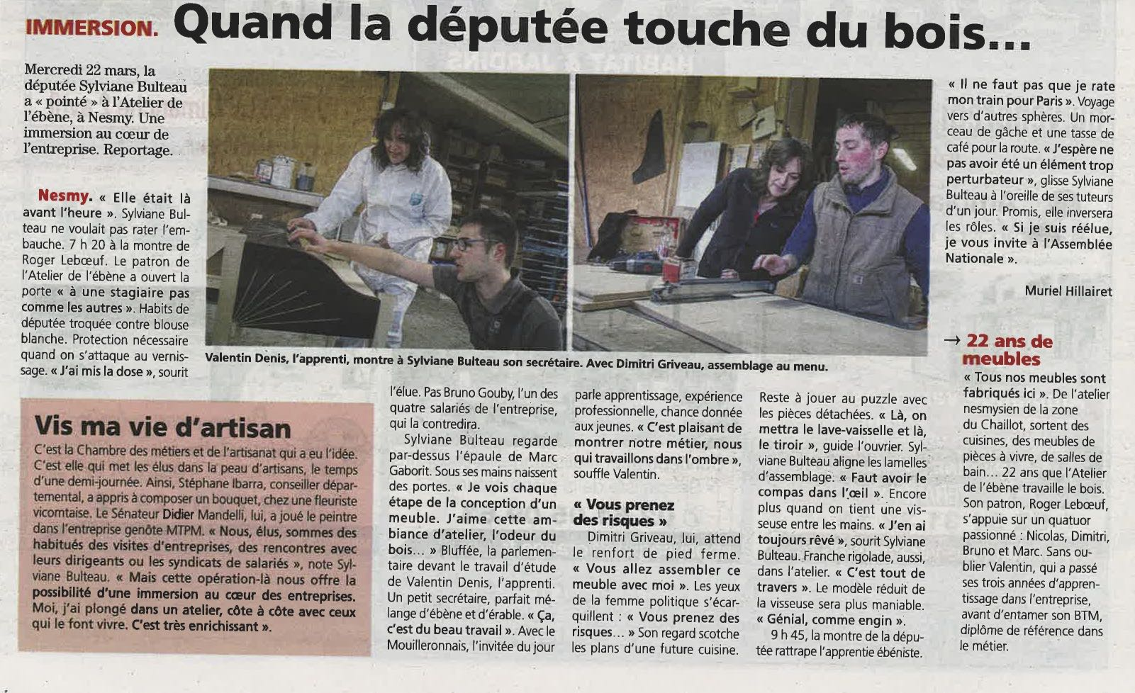 "article du ""journal du pays yonnais"" mars 2017"