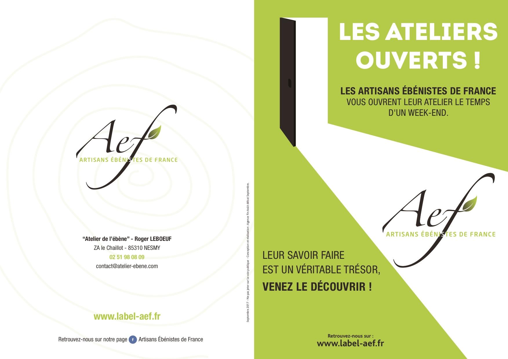 INVITATION PORTES OUVERTES AEF 2017