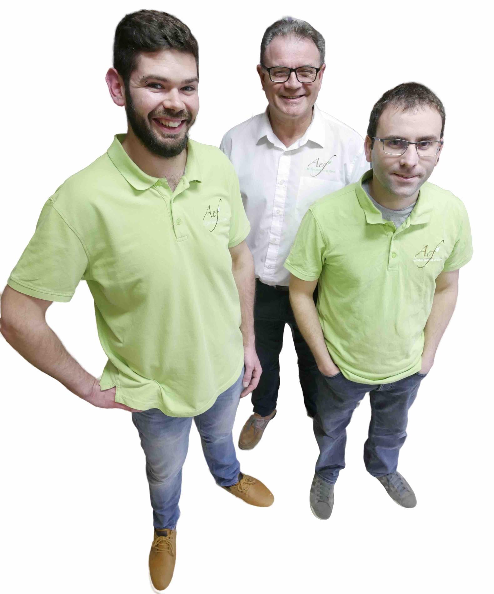 Sylvain Ordreneau, Nicolas Boucher et Roger Leboeuf